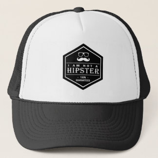 I am not a Hipster 100% Guaranteed Funny Mustache Trucker Hat