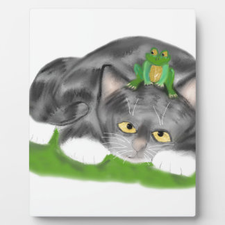 I am not a Lily Pad Meows Kitten Photo Plaques