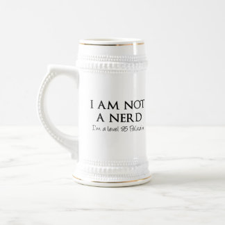 I am not a nerd, I'm a level 85 Paladin Beer Stein