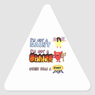 I am not a saint or sinner triangle stickers