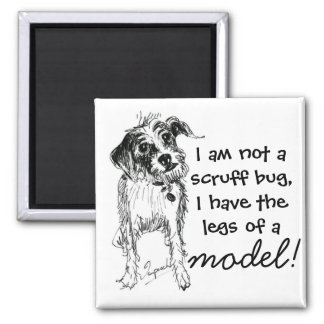 I am not a scruff bug, I have the legs of a model! 2 Inch Square Magnet