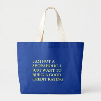 I AM NOT A SHOPAHOLIC SHOPPING BAG