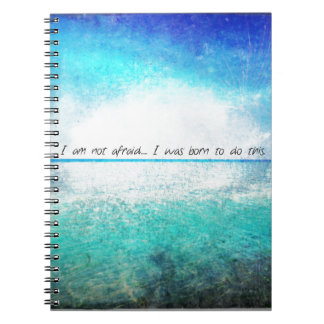 I am not afraid I was born to do this JOAN OF ARC Spiral Notebook