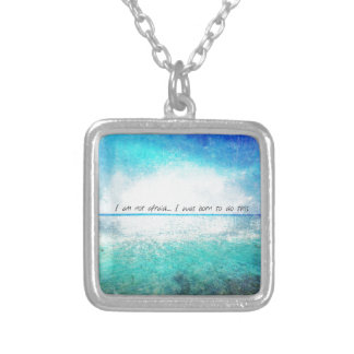 I am not afraid. I was born to do this JOAN OF ARC Silver Plated Necklace