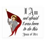 I Am Not Afraid - Joan of Arc Postcard