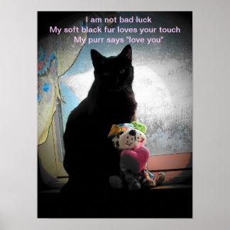 I am not bad luck- haiku poster