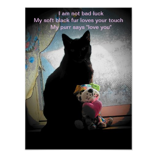 I am not bad luck- haiku posters