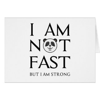 I AM NOT FAST(3) CARD