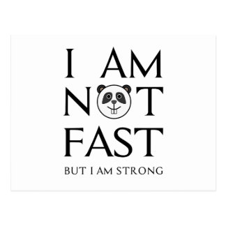 I AM NOT FAST(3) POSTCARD