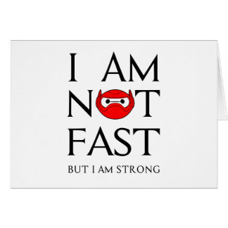 I AM NOT FAST CARD