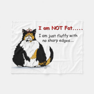 I am not fat, just fluffy with no sharp edges fleece blanket