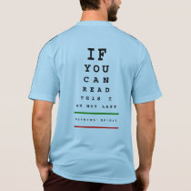 I am Not Last Eye Chart - Adidas SS Running T-Shirt
