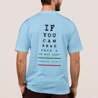 I am Not Last Eye Chart - Adidas SS Running T-Shirt