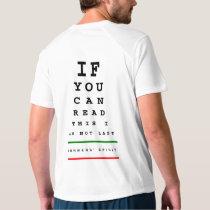 I am Not Last Eye Chart - New Balance SS Running T-shirt