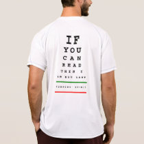 I am Not Last Eye Chart - New Balance SS Running T-Shirt