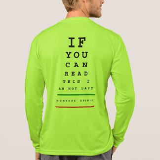 I am Not Last Eye Chart - Sport-Tek LS Running T-Shirt