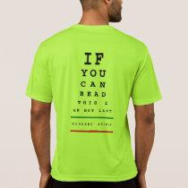 I am Not Last Eye Chart - Sport-Tek SS Running T-Shirt