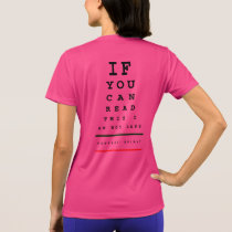 I am Not Last Eye Chart - Sport-Tek SS Running T-Shirt