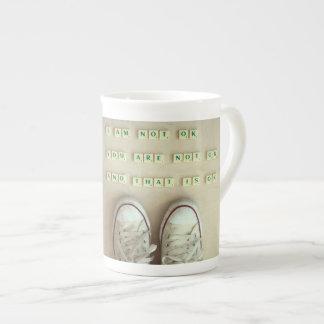 I am NOT OK, You are Not OK Bone China Mugs
