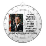 I Am Not Worried About The Deficit Reagan Quote Dart Boards
