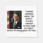 I Am Not Worried About The Deficit Reagan Quote Disposable Napkins