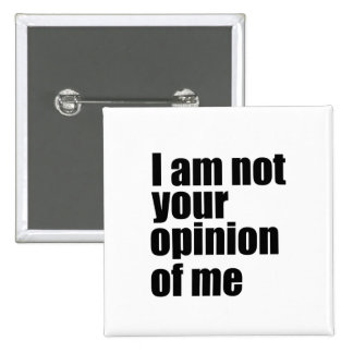 I am not your opinion of me pinback button