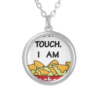 I am not yours silver plated necklace