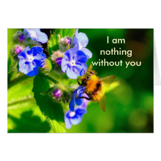 I am nothing without you greeting card