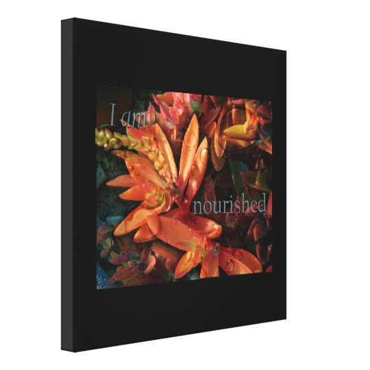 I Am Nourished Nature Plant Wrapped Canvas