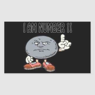 I Am Number One Rectangular Sticker
