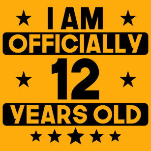 I Am Officially 12 Years Old 12th Birthday T Shirt