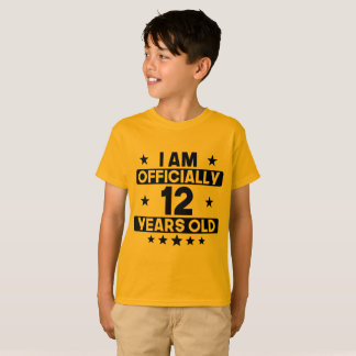 I Am Officially 12 Years Old 12th Birthday T-Shirt