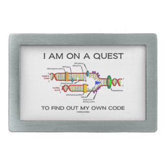 I Am On A Quest To Find Out My Own Code DNA Humor Rectangular Belt Buckle