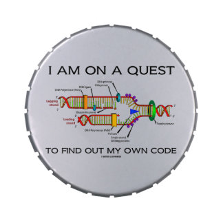 I Am On A Quest To Find Out My Own Code DNA Humor Jelly Belly Tin
