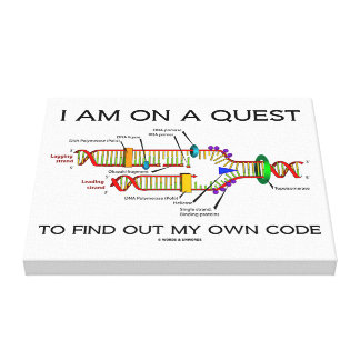 I Am On A Quest To Find Out My Own Code DNA Humor Canvas Print