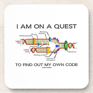 I Am On A Quest To Find Out My Own Code DNA Humor Drink Coasters