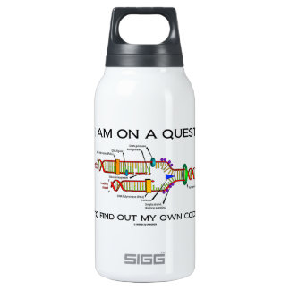 I Am On A Quest To Find Out My Own Code DNA Humor Insulated Water Bottle