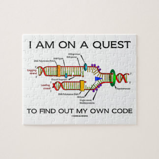I Am On A Quest To Find Out My Own Code DNA Humor Jigsaw Puzzle