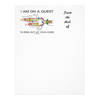 I Am On A Quest To Find Out My Own Code DNA Humor Letterhead