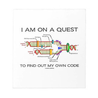 I Am On A Quest To Find Out My Own Code DNA Humor Notepad