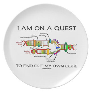 I Am On A Quest To Find Out My Own Code DNA Humor Plate