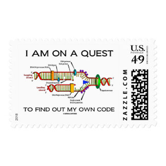 I Am On A Quest To Find Out My Own Code DNA Humor Postage
