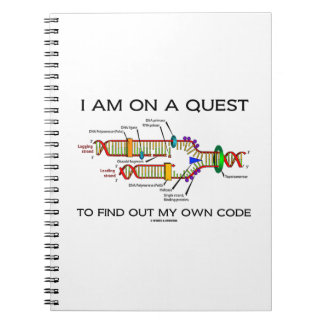 I Am On A Quest To Find Out My Own Code DNA Humor Spiral Notebook