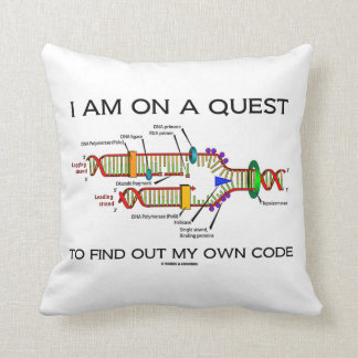 I Am On A Quest To Find Out My Own Code DNA Humor Throw Pillow