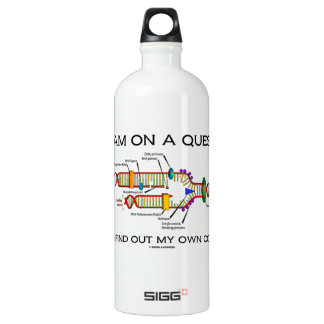 I Am On A Quest To Find Out My Own Code DNA Humor Water Bottle