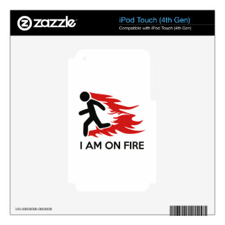 I Am On Fire iPod Touch 4G Skin