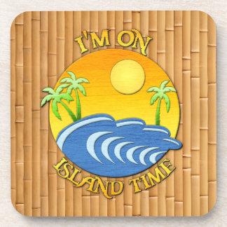 I Am On Island Time Beverage Coaster