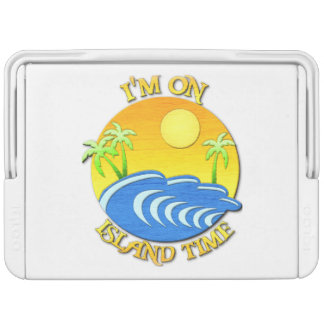 I Am On Island Time Drink Cooler