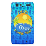 I Am On Island Time Droid RAZR Covers