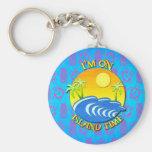 I Am On Island Time Key Chains
